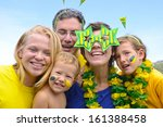 family of brazilian soccer fans ... | Shutterstock . vector #161388458