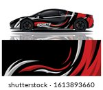 car decal wrap design vector | Shutterstock .eps vector #1613893660