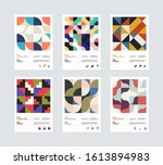 set of abstract geometrical... | Shutterstock .eps vector #1613894983