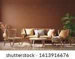 Modern Interior In Terracotta...