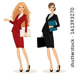 successful business woman set...