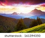 majestic morning mountain... | Shutterstock . vector #161394350
