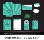 stationery green | Shutterstock .eps vector #161395214