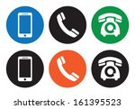 telephone icons | Shutterstock .eps vector #161395523