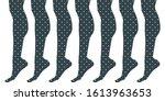 slim elegant woman leg...   Shutterstock .eps vector #1613963653