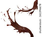 splash of brownish hot coffee... | Shutterstock . vector #161396678