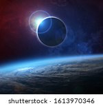 Solar Eclipse And Earth. The...