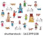 decorative elements  people... | Shutterstock . vector #161399108