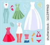 set of clothes and accessories... | Shutterstock .eps vector #161399960