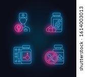 gynecology neon light icons set.... | Shutterstock .eps vector #1614003013