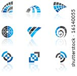 various blue logos to go with... | Shutterstock . vector #16140055