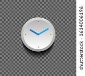 white clock icon design on... | Shutterstock .eps vector #1614006196