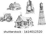 vector illustration of farmers... | Shutterstock .eps vector #1614012520