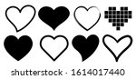 heart hand drawn different... | Shutterstock .eps vector #1614017440