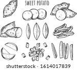 vector illustration of sweet... | Shutterstock .eps vector #1614017839