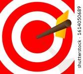 hitting the center of the dart... | Shutterstock .eps vector #1614050689