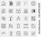 25 universal icons vector...   Shutterstock .eps vector #1614061033