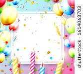 happy birthday party template... | Shutterstock .eps vector #1614063703