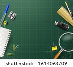 back to school background with... | Shutterstock .eps vector #1614063709