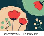 creative abstract floral...