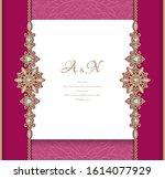 vintage ornamental background...   Shutterstock .eps vector #1614077929