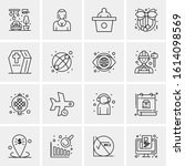 16 business universal icons... | Shutterstock .eps vector #1614098569