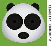 Vector Cartoon Cute Panda Bear...