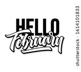 hello february. hand drawn... | Shutterstock .eps vector #1614101833
