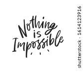 motivational hand written... | Shutterstock .eps vector #1614123916