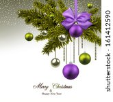 christmas background with green ... | Shutterstock .eps vector #161412590