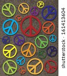 symbol of peace with different... | Shutterstock .eps vector #161413604