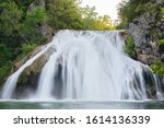 Waterfall Photographed With A...