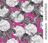 Seamless Pattern With Black And ...