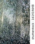 Постер, плакат: Broken glass cracked windshield with