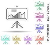 finance charts in multi color...