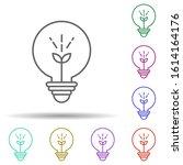idea  bulb multi color style...