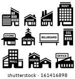 building symbols | Shutterstock .eps vector #161416898