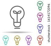 light bulb  plant in multi...