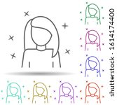 girl young avatar multi color...