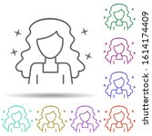 girl modern avatar multi color...