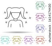 child girl avatar multi color...