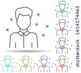 office man avatar multi color...