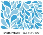 vector image of water drops for ... | Shutterstock .eps vector #1614190429