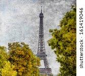 Eiffel Tower Vintage View In...