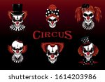 set of vector images of evil... | Shutterstock .eps vector #1614203986
