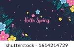 spring background illustration... | Shutterstock .eps vector #1614214729