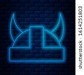 glowing neon line viking in... | Shutterstock .eps vector #1614251803