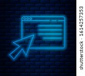 glowing neon line online... | Shutterstock .eps vector #1614257353
