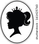 girl princess silhouette on... | Shutterstock .eps vector #161425760