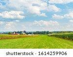 Amish Country Farm Barn Field...